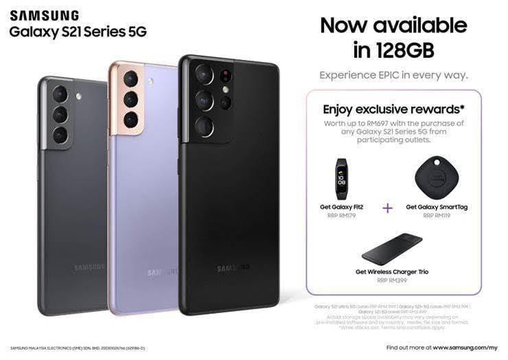 Galaxy S21 128GB Model in Malaysia