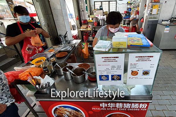 Madras Lane Chee Cheong Fun stall in PJ, SEA Park